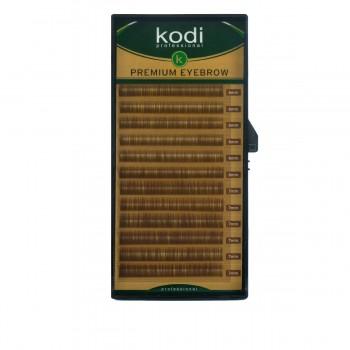 Брови KODI Straight Curl Натурально-коричневые 12 рядов (0,10 6-7 мм)