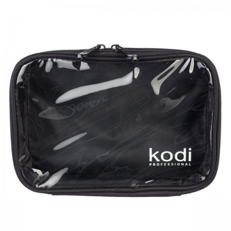 Косметичка 01М KODI c прозрачным верхом Черный