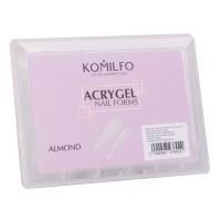 Формы верхние для наращивания ногтей KOMILFO Acry Gel 120 шт (Almond (миндаль))