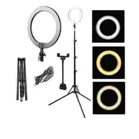 Лампа кольцевая Bucos BCS-R180 диамтр 26 см 28 Вт