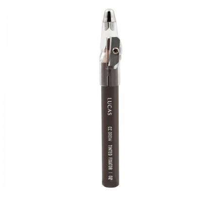 Карандаш восковый для бровей Lucas Tinted Wax Fixator (02 темно-коричневый)