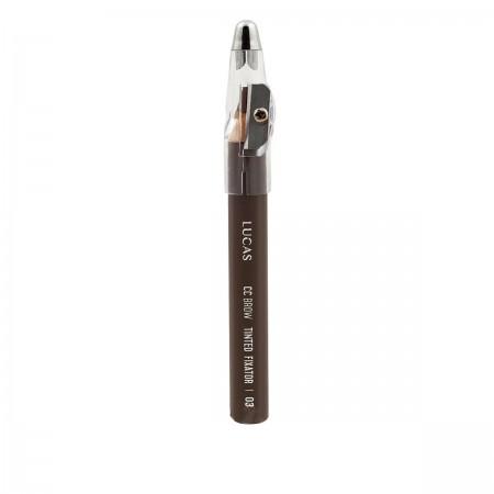 Карандаш восковый для бровей Lucas Tinted Wax Fixator (03 коричневый)