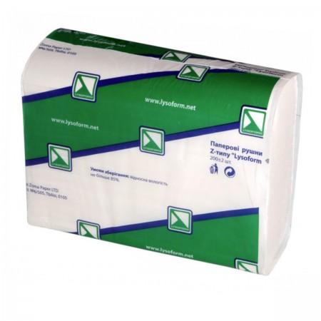 Полотенца Lysoform Z-типа 2 шаровые белые 200 шт