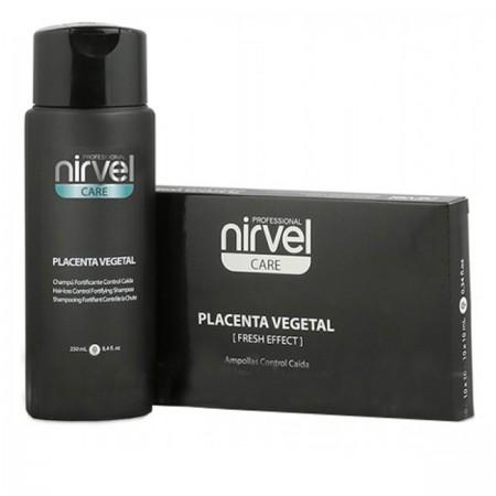 Набор Nirvel Placenta шампунь + ампулы против выпадения волос