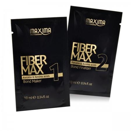 Набор для кератинового выпрямления волос FIBER MAX (сыворотка 10 мл + крем 12 мл)