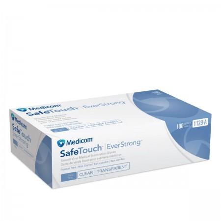 Перчатки виниловые Медиком SafeTouch EverStrong Прозрачные 100 шт (L)