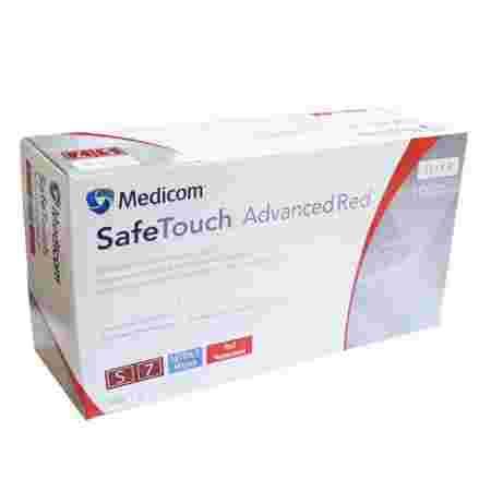 Перчатки нитрил без пудры нестерильные MEDICOM SafeTouch Advanced Red 100 шт р S