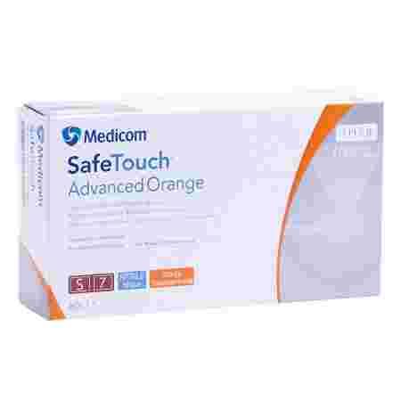 Перчатки нитрил без пудры нестерильные SafeTouch Advanced Orange 100 шт р S