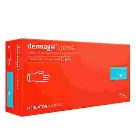 Перчатки латексные неопудренные Dermagel Coated 100 шт (XS)