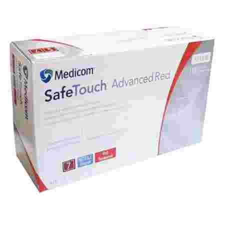 Перчатки нитрил без пудры нестерильные MEDICOM SafeTouch Advanced Red 100 шт р M