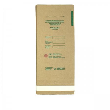 Крафт пакеты Медтест для паровой и воздушной стерилизации 75х150 мм 100 шт
