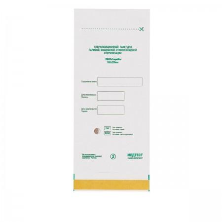 Пакеты Медтест самоклеющиеся  для стерилизации (белые) ПБСП-СтериМаг 100*250 100 шт