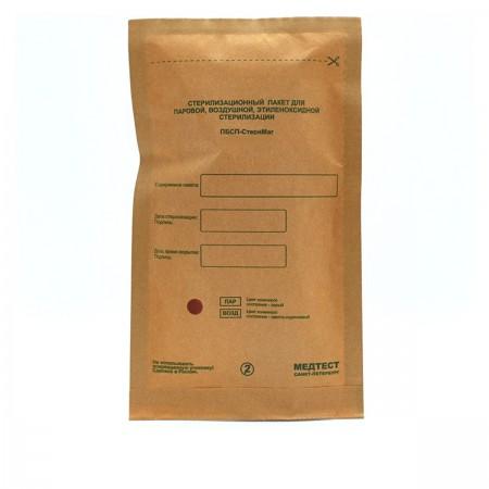 Пакеты Медтест самоклеющиеся для стерилизации (крафтовые) ПБСП-СтериМаг 115*200 100 шт