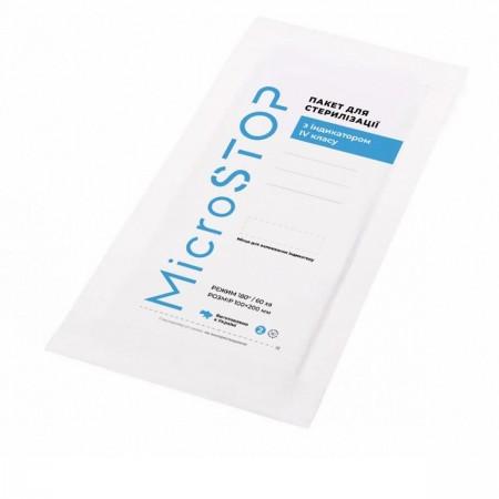 Крафт-пакет для стерилизации инструментов МикроStop 100х200 мм 100 шт