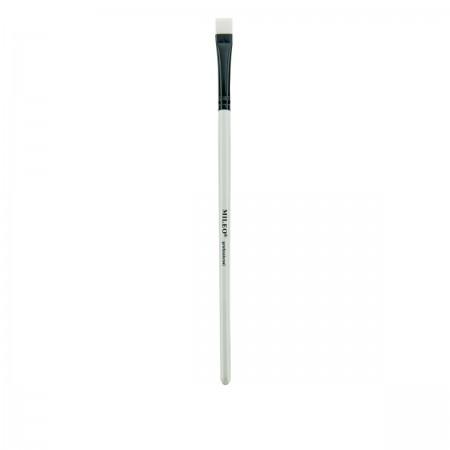 Кисть для брів пряма біла ручка Professional