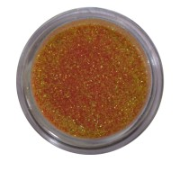 Песок в баночке NailApex 5 г золото с оранжевым