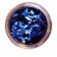 Ромбы NailApex 182 mix синяя голограмма