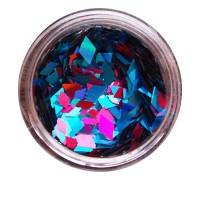 Ромбы NailApex 183 mix голубой с малиновым