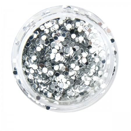 Конфетти NailApex круги серебро