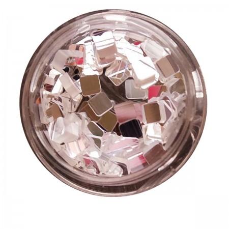Декор для ногтей NailApex 178 зеркальный квадрат