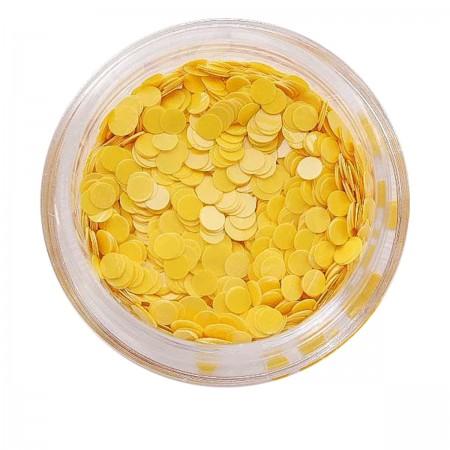 Матовый декор NailApex 219 круг маленький желтый