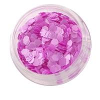 Матовый декор NailApex 218 шестигранник фиолетовый