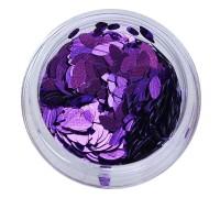 Зерно декор NailApex 211 фиолетовый-зеркальный