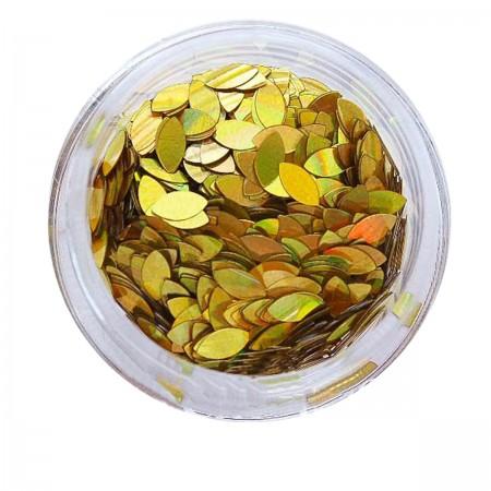 Зерно декор NailApex 213 золото-голограмма