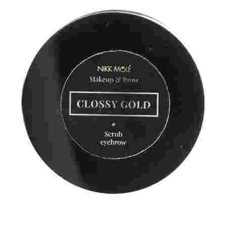 Скраб для бровей Nikkmole GLOSSY GOLD 10 г