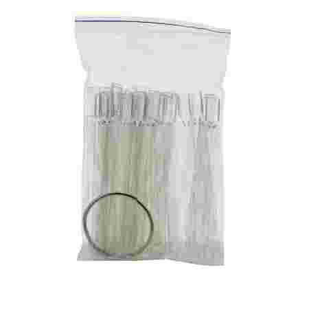 Палитра French для лаков веерная по 1 ноготку длинная (50 шт) (Прозрачный)