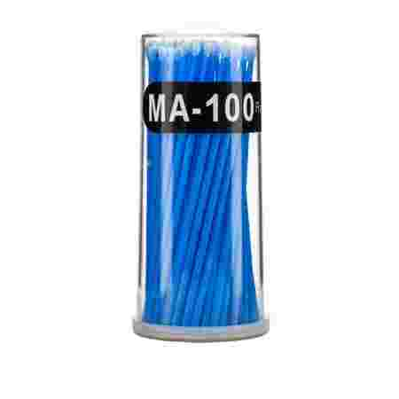 Палочки NoName (брашер) для ресниц 100 шт (Голубой МА-100)