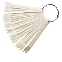 Палитра для лаков веерная миндаль 50 шт (Матовая)