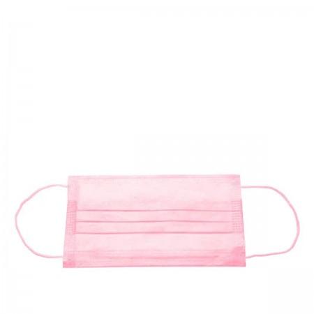 Маска защитная медицинская 3-х слойная 1 шт (Розовый)