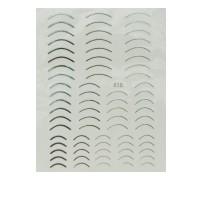 Лента гибкая для ногтей Nail sticker (3D-Улыбка (серебро))