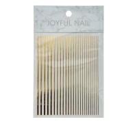 Лента гибкая для ногтей Nail sticker (Линии золото)