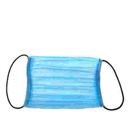 Маска защитная 3-х слойная прошитая 1 шт (Голубая)