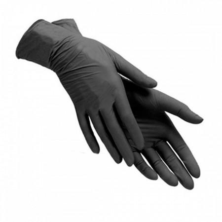 Перчатки нитриловые без пудры нестерильные 10 пар Черные (XL)
