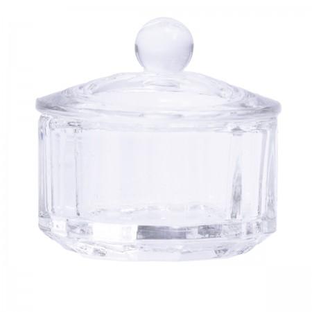 Стаканчик для мономера стекло с крышкой прозрачный
