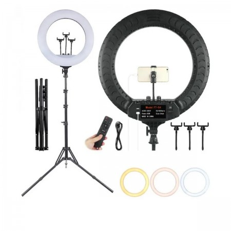 Лампа кольцевая с штативом RL-14  диаметр 36 см 36 вт