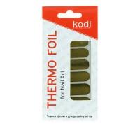 Термо-фольга для дизайна ногтей KODI Золото