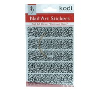 Наклейки для ногтей KODI Nail Art Stickers Black 003BP