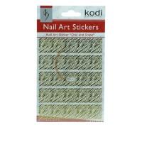 Наклейки для ногтей KODI Nail Art Stickers Gold 008BP