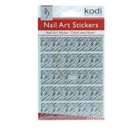 Наклейки для ногтей KODI Nail Art Stickers Silver 008BP