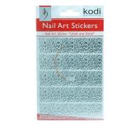 Наклейки для ногтей KODI Nail Art Stickers Silver 003BP