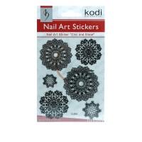 Наклейки для ногтей KODI Nail Art Stickers Black 006YL