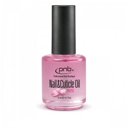 Масло PNB Nail & Cuticle Oil Rose для ногтей и кутикулы с розой 15 мл
