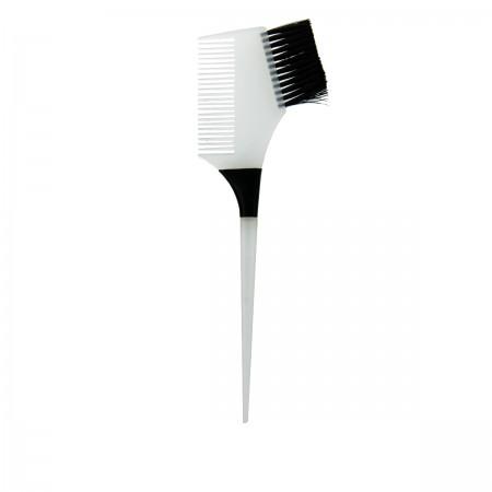 Кисточка Salon для нанесения краски+гребень белый