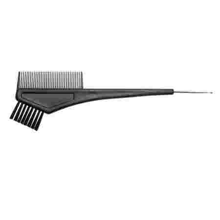 Кисточка Salon для нанесения краски+гребень+крючок черный