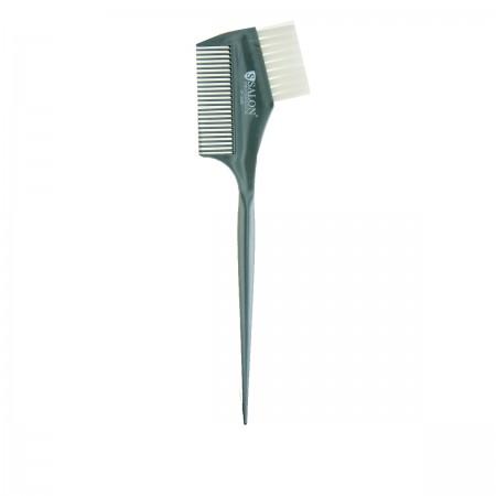 Кисточка для нанесения краски+гребень Серый 0288