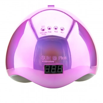 Лампа SUN Plus 5 LED/UV 48 Вт с дисплеем (MIRROR PINK)